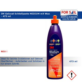 3M Gelcoat Schleifpaste MEDIUM mit Wax
